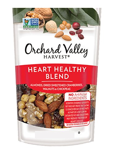 Orchard Valley Harvest Snack Packs- Heart Healthy Blend Trail Mix, Mixed Nuts - 15 Ct. Multi Pack, Non-GMO Project Verified, No Artificial Ingredients, 15 ounces (15 Individual Packs) (Mix Blend Trail)