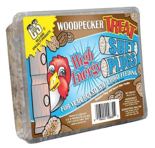 C&S Woodpecker Treat Suet Plug by C&S ()