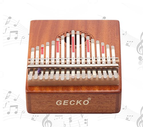 Gecko Kalimba 17 Key with Mahogany,Portable Thumb Piano Mbira/Marimba Sanza of Wooden Attached Ore Metal Tines - Image 2