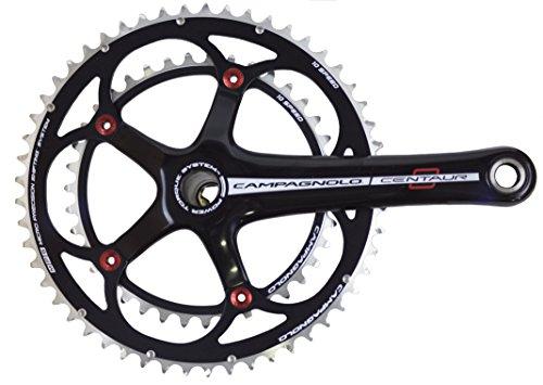 (Campagnolo Centaur Black/Red Carbon Power-Torque 10 Speed Double Standard 39/52 Crankset 170mm)