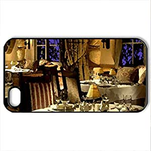 Interior. - Case Cover for iPhone 4 and 4s (Houses Series, Watercolor style, Black)