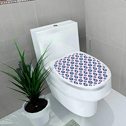 Auraise-home Decal Wall Art Decor Evil Eye Seamless Seamless in Swatch menu for Toilet Decoration W11 x L13