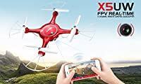 DoDoeleph Syma X5UW Wifi FPV 720P HD Camera Quadcopter Drone with Flight Plan Route App Control & Altitude Hold Function With Extra Battery by DoDoeleph