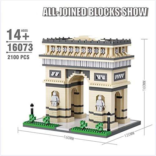 World Famous Architecture Arc de Triomphe 3D Model Diamond Mini DIY Micro Building Nano Blocks Bricks Toy for Children for Boys and Girl Birthday Gift