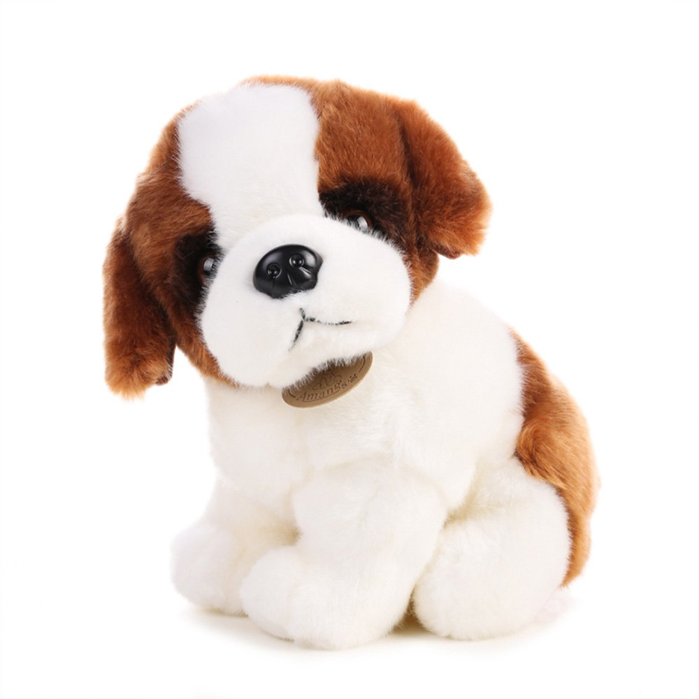 Amazon Com Rain S Pan Cute Saint Bernard Dog Plush Stuffed Animal