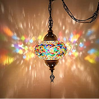 Choose From 12 Designs Turkish Moroccan Mosaic Glass Chandelier Lights Hanging Ceiling Lamps