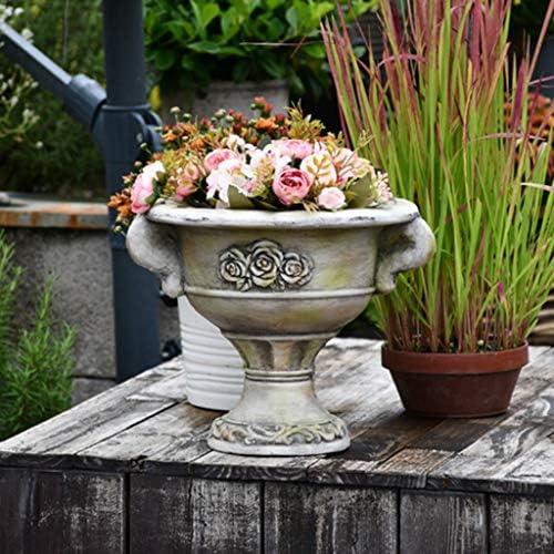 植物ポットフラワーポットヴィンテージジューシーなフラワーポットクリエイティブパーソナリティ樹脂フラワーポットアウトドア庭の装飾パティオリビングルームの装飾 (Size : 14*24.5*32cm)