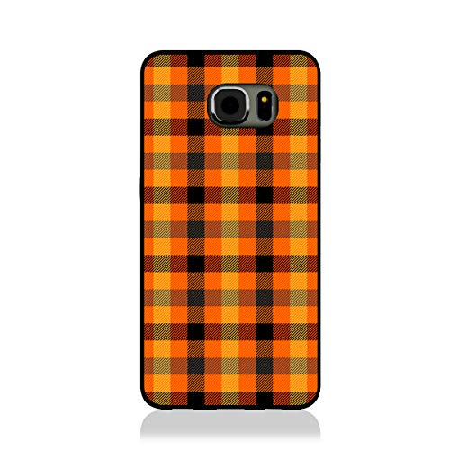 Starbulinbuling Halloween Tartan Plaid Scottish Cage Background Samsung Galaxy S7 Case, Slim Fit - Hard Shell Rubber - Full Protective Cover Samsung Galaxy S7