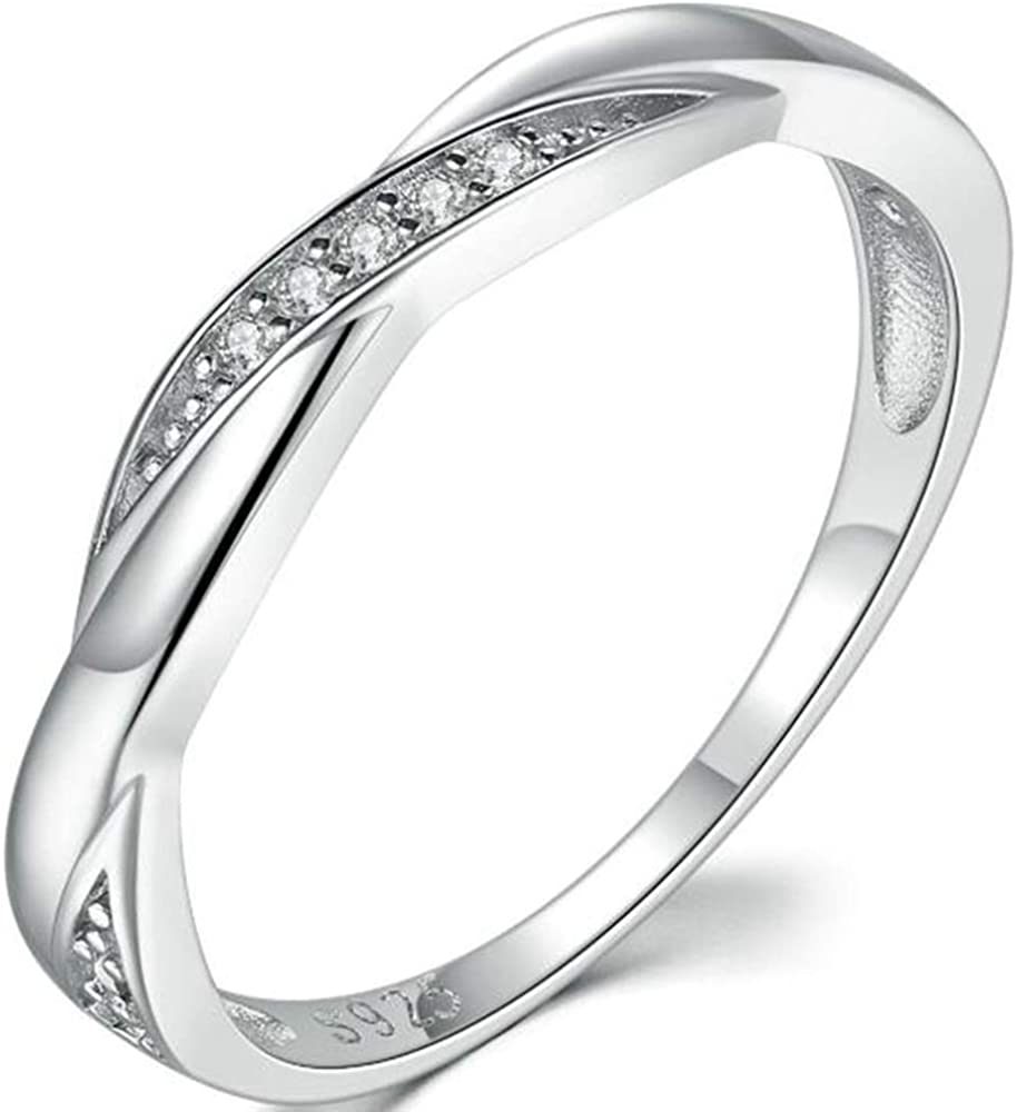 Jude Jewelers Stainless Steel Wedding Engagement Stackable Eternity Band Ring