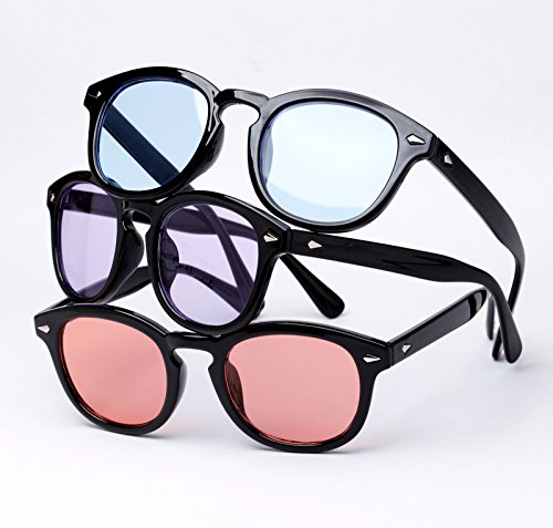 Bestum Retro Inspired Sunglasses With Rivets Tinted Lens UV400