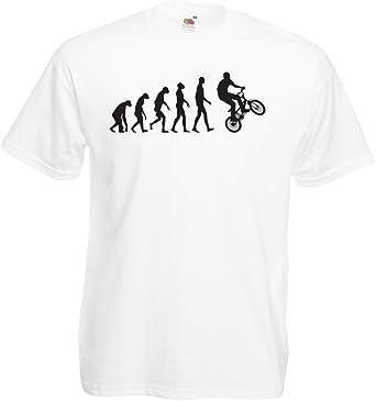 lepni.me Camisetas Hombre Evolución Humana y Bicicleta - Ciclismo ...