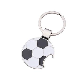 LIOOBO Colgante de fútbol Llavero Abrebotellas Metal Soccor ...