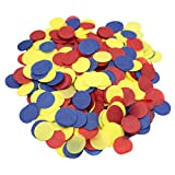 Mybbshower Tissue Paper Red Yellow and Blue Circle Confetti Birthday Party Decor Pack of 2 oz