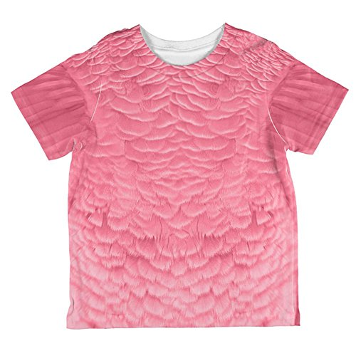 Halloween Pink Flamingo Costume All Over Toddler T Shirt Multi 4T ()