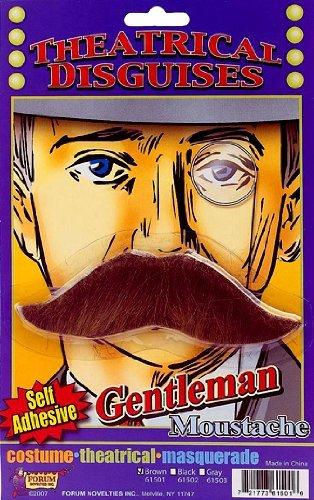 Forum Novelties 61501 Moustache - Gentleman's - Brown