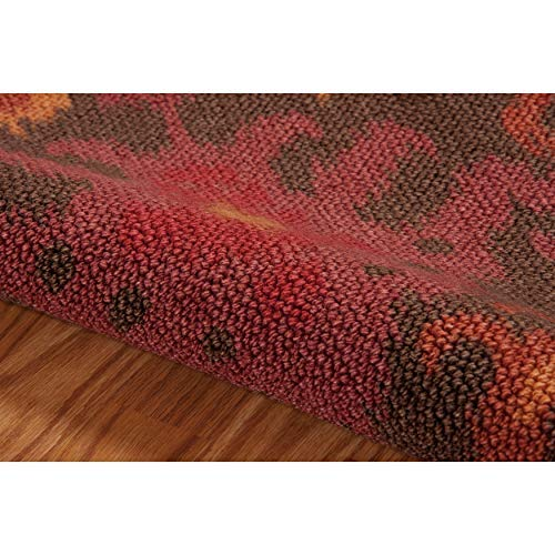 Nourison Vista Brown Rectangle Area Rug, 4-Feet by 6-Feet 4 x 6