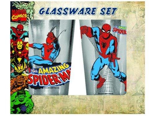 Silver Buffalo Unisexadult SpiderMan 16oz Pub Glass Standard