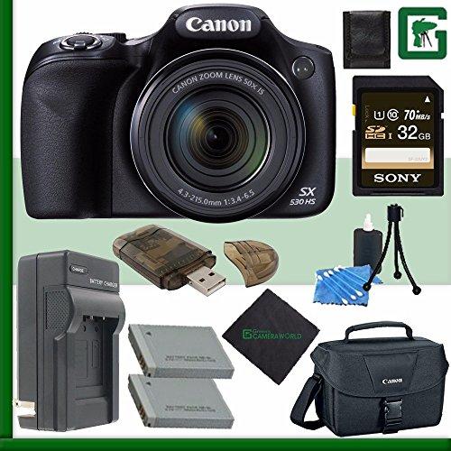 PowerShot SX530 HS Digital Camera + 32GB Green's Camera