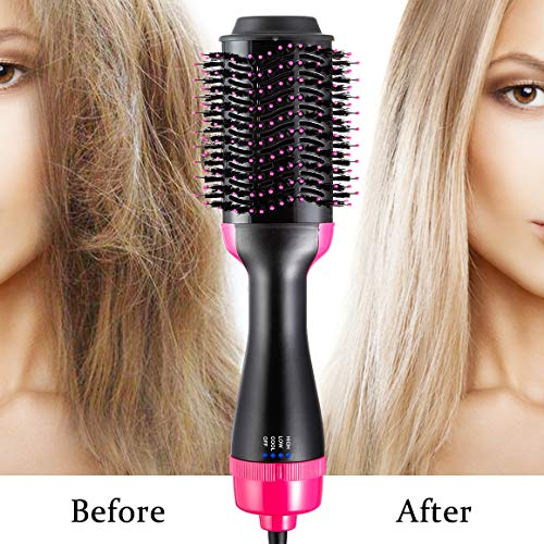 One Step Hair Dryer & Volumizer, Hot Air Brush All In One Hair Brush and Dryer Professional Negative Ion Hair Hot Comb, Black by Gelma (Image #6)