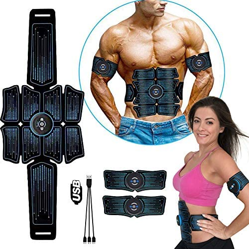 50pcs Gel Pads Blatt Stimulator Trainer Bauch Toning Belt Muscle Toner