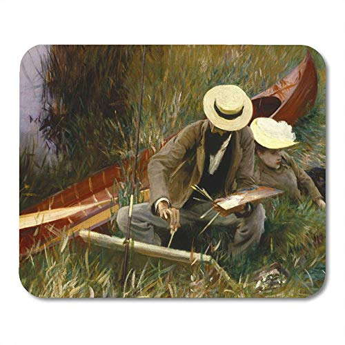 LIminglove Painters John Singer Sargent Out of Doors 19Th Gaming Mouse Pad,Non-Slip and Dust-Proof Mouse,Funny Creative Mouse pad