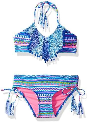 LiMiTeD Too Girls' Pailsley/Aztec Mix Bikini