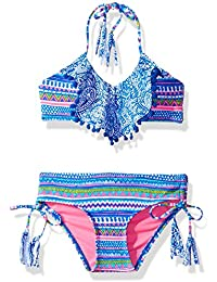 LiMiTeD Too Girls' Pailsley/Aztec Mix Bikini