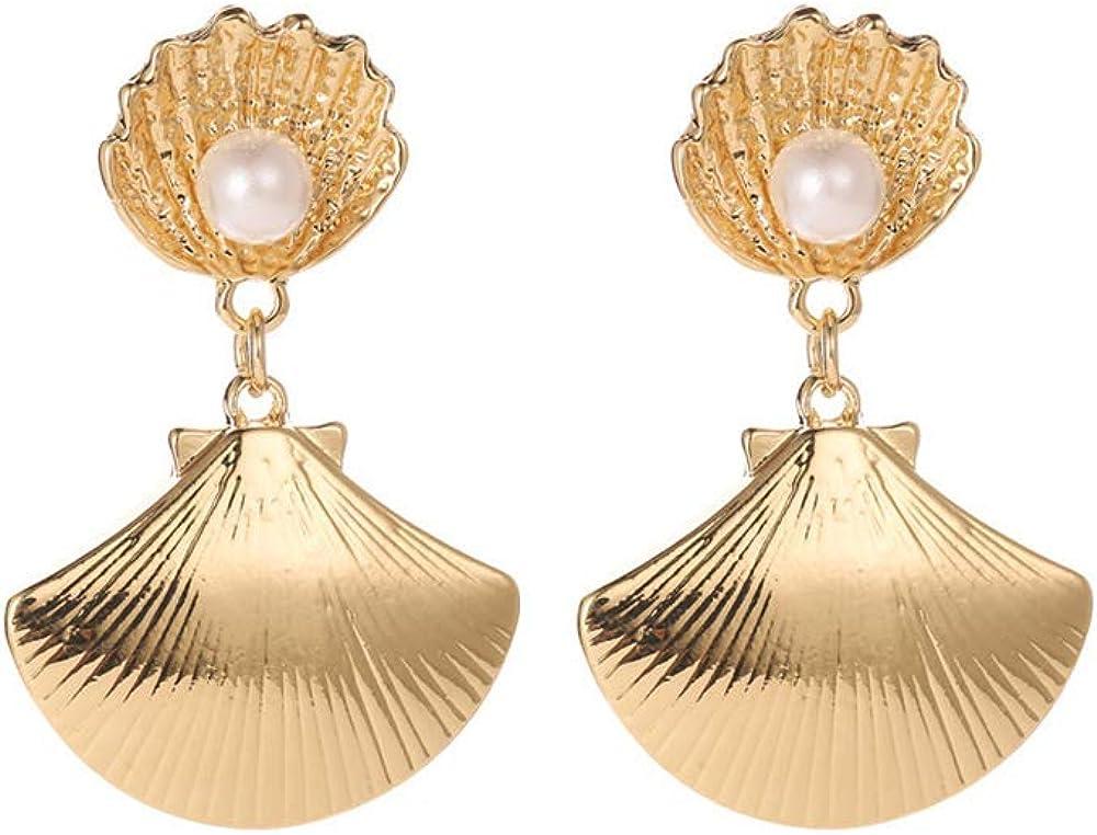 Women 11-13 MM Natural Shell Pearl Dangle Earrings Elegant Party or Wedding Earring