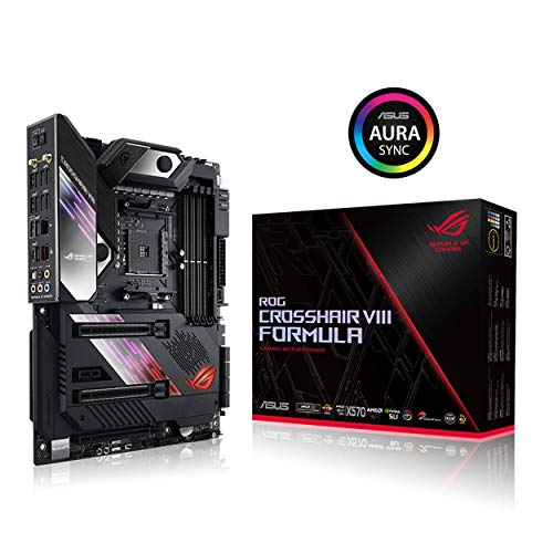 ASUS ROG X570 Crosshair VIII Formula ATX Motherboard with PCIe 4.0, on-Board WiFi 6 (802.11Ax), 5 Gbps LAN, USB 3.2, SATA, M.2, Node and Aura Sync RGB - Mainboard Express Pci