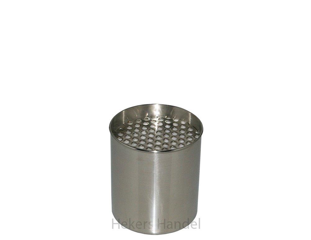 1contenitore in acciaio inox con interno in spugna + 1Acciaio Inossidabile Spar piatto di ceramica contenitore Gel caminetto Bioetanolo Caminetto Bioetanolo Dose Hekers