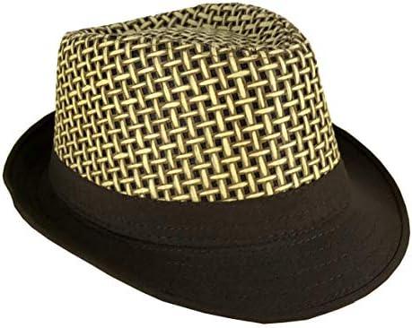 CLUB CUBANA Cappelli Fedora per Uomo Donne Cappello Unisex Capello Floscio Stile Panama Estate Spiaggia Sole Jazz