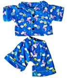 """Sunny Days Blue Pj's Teddy Bear Clothes Outfit Fits Most 14"""" - 18"""" Build-A-Bear, Vermont Teddy Bears, and Make Your Own Stuffed Animals"""