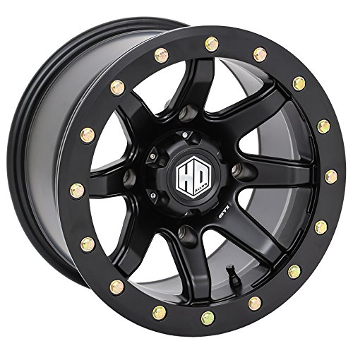 STI HD9 Beadlock Matte Black ATV Wheel 14x8 4//137 4+4 14HB9278