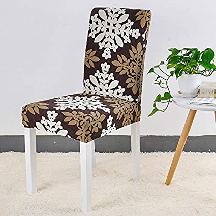Amazon.com: Black Spandex Chair Cover Stretch Geometry Kitchen Chair ...