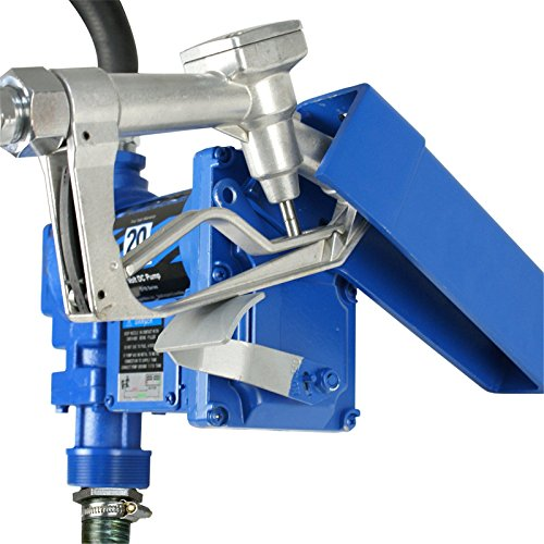 F2C 12 Volt 20GPM Electric Diesel Kerosene Gasoline Fuel Transfer Pump Fillrite Manual Nozzle Hose Kit … Blue by F2C (Image #5)