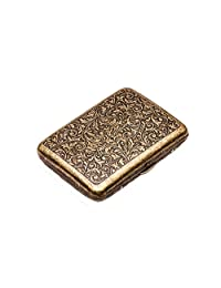 Fashion Durable Nobility Men's Bronze Cigarette Case Cig Holder Box -Bronze