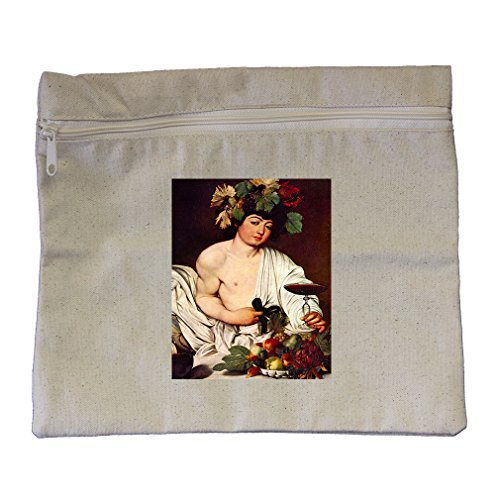 Bacchus (Caravaggio) Canvas Zippered Pouch Makeup - Canvas Bacchus