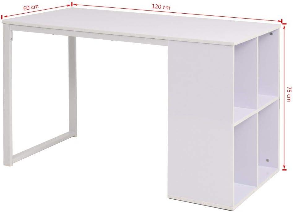 ROMELAREU Escritorio 120x60x75 cm blancoMobiliario Mobiliario de Oficina Escritorios: Amazon.es: Hogar
