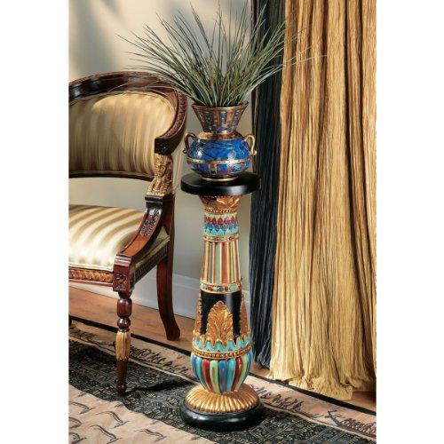 "26"" Ancient Egyptian Art Structure Sculptural Pedestal Display Stand"