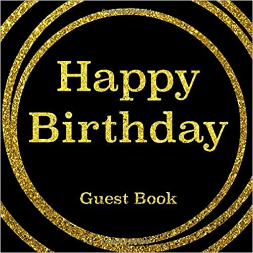 Happy Birthday Guest Book.