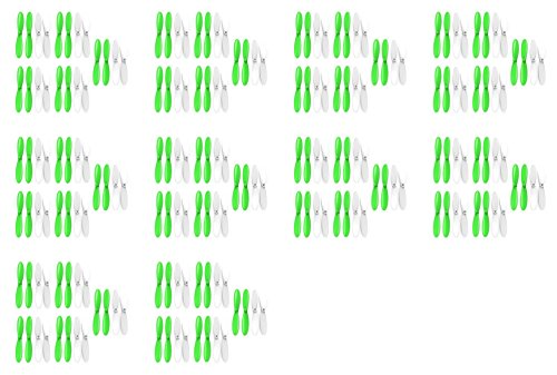 10 x Quantity of Revell QG 550 Mini Quadrocopter Green White 55mm Propellers Blades Props 5x Propeller Blade Prop Set 20pcs Drone Parts Drones