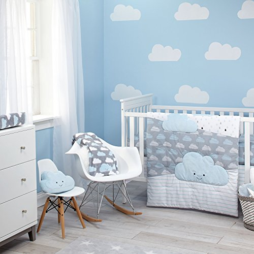 Little Love by NoJo 5 Piece Comforter Set, Happy Little Clouds