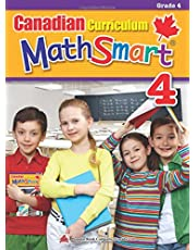 Canadian Curriculum MathSmart 4: A concise Grade 4 math workbook packed with practice, explanations, and tips
