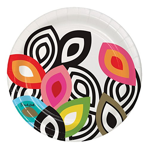 Round Plate Snack - French Bull 322091 Foli- 7-Inch Round Snack Plates, 10-Count