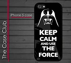 iPhone 5 Rubber Silicone Case - Keep Calm and Use the Force Darth Vader