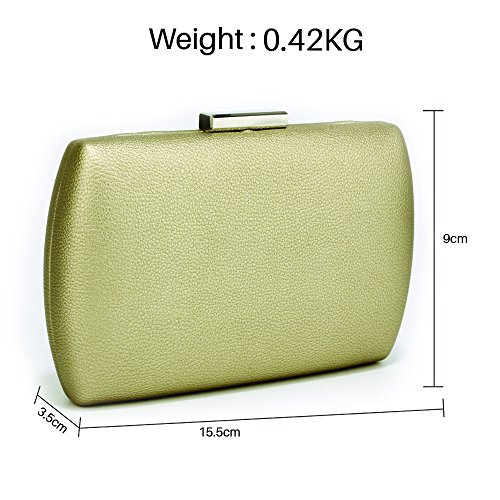 Rígido Bolso De Clutch De Hard Reino Noche Uk Gratis Case Entrega Oro Fabulous Unido Embrague Free Fabulosa Delivery De Gold Estuche Bag Evening wFvx04