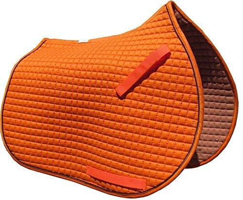 オレンジall-purpose英語サドルパッド( Chooseトリムカラー  Pumpkin orange with Black Piping B00GSXENB0