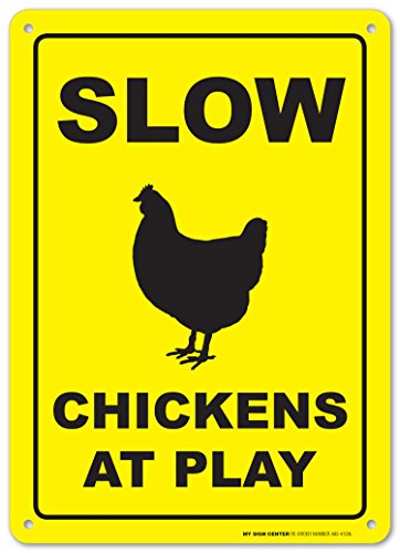 Slow Chickens Play Warning Sign