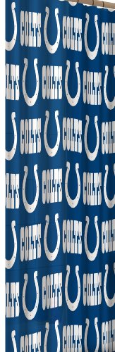 Indianapolis Colts Shower Curtain - The Northwest Company NFL Indianapolis Colts 72-Inch-by-72-Inch Shower Curtain