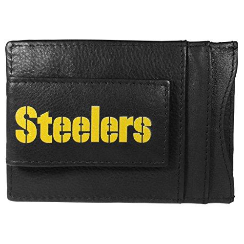 NFL Pittsburgh Steelers Logo Leather Cash & Cardholder, Black
